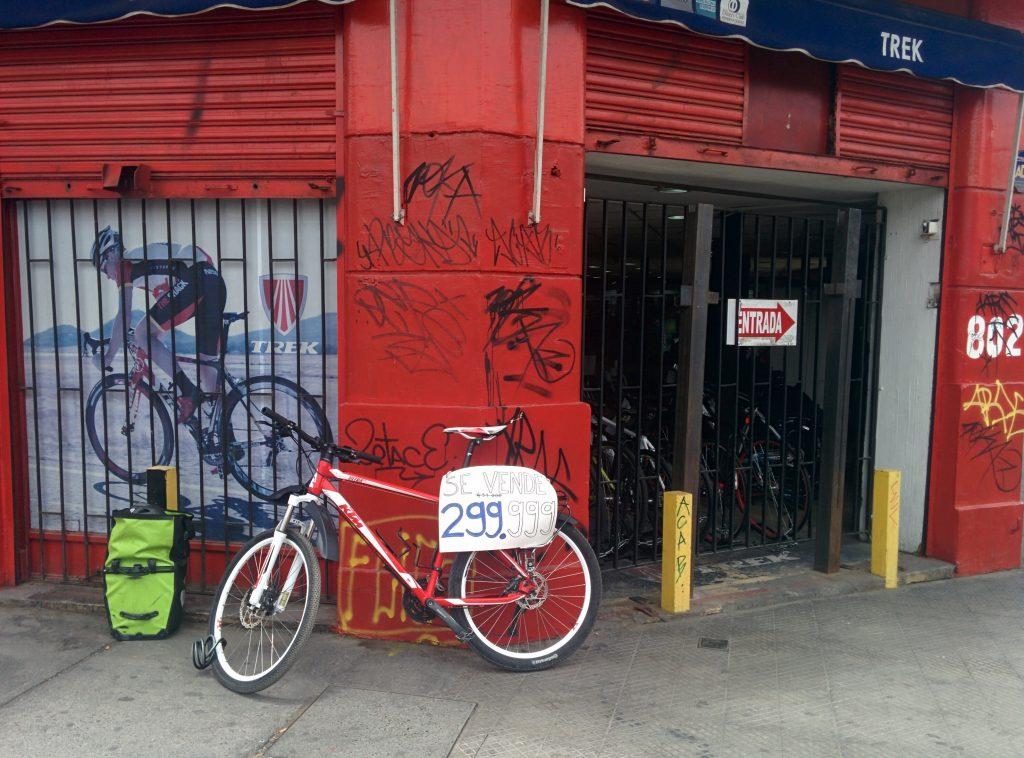 Fahrradverkauf in Santiago