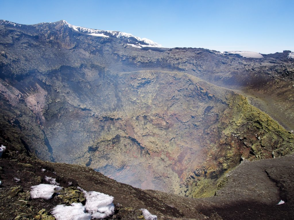 Krater des Vulkan Villarica
