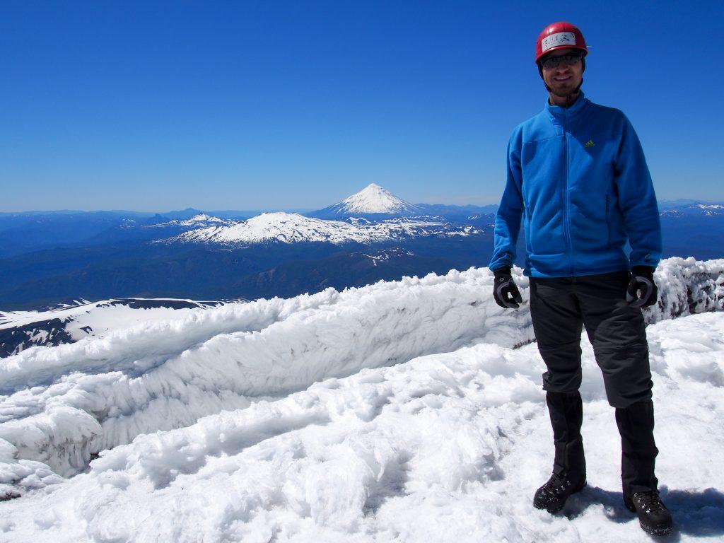 Gipfelfoto auf dem Vulkan Villarica