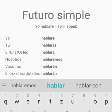 Fun way of learning grammar: Spanish Conjugator App