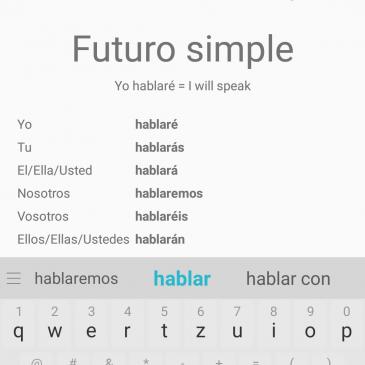 Fun way of learning grammar: Spanish Conjugator App